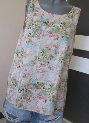 Блуза colin's, цветочный принт, р.м, состояние идеальное