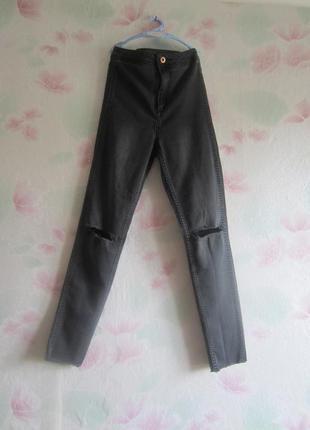 Крутые джинсы skiny с высокой посадкой от h&m