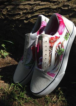 Новые vans old skool hawaiian floral оригиналы наложенным