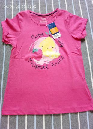 Розовая футболка lupilu р.  110-116