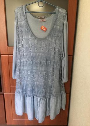 Платье- туника 2-в-1 очень большого размера - 32, наш - 58 -60