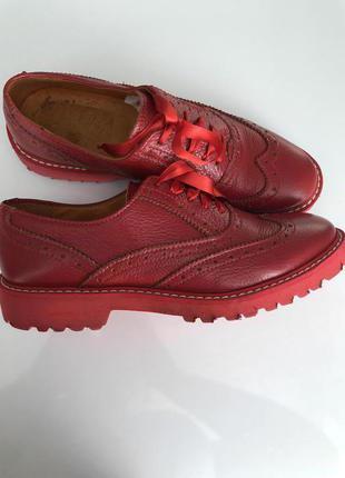 Туфли италия, ручная работа, натуральная кожа