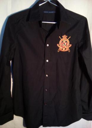 Дизайнерская рубашка с шевроном ralph lauren р.м