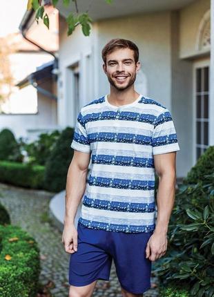 Мужская пижама, комплект домашний мужской от key xl