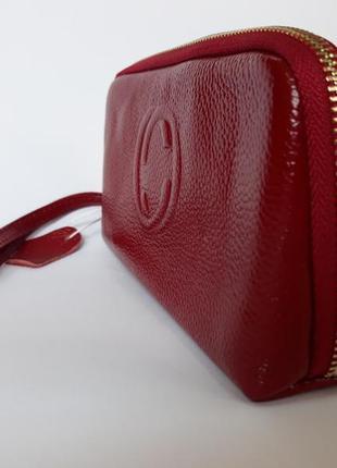 Кожаный клатч кошелек косметичка