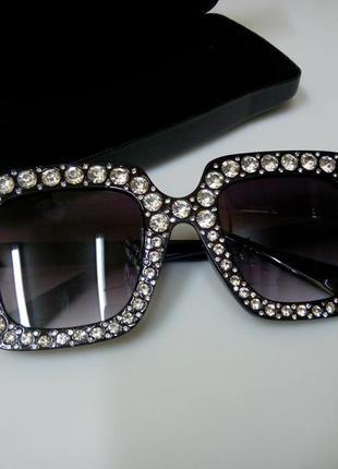 Очки в стразах 💎 в камнях, блестящие солнцезащитные очки