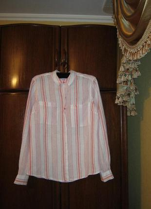 Рубашка marks&spencer, 100% лен, размер s