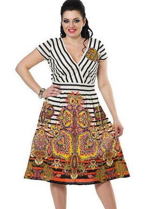 Летнее хлопковое платье indiano, размеры 46-48-50, скидка