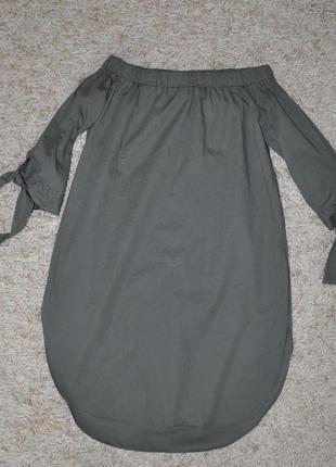 Кофта-блузка с опущенными плечами цвет хаки new look