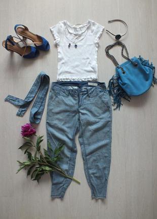 Джинсовые штаны-бриджи