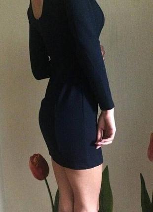 Темно синее короткое платье,zara