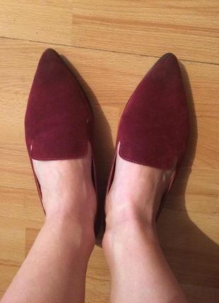 Туфли, балетки, лоферы марсалового цвета