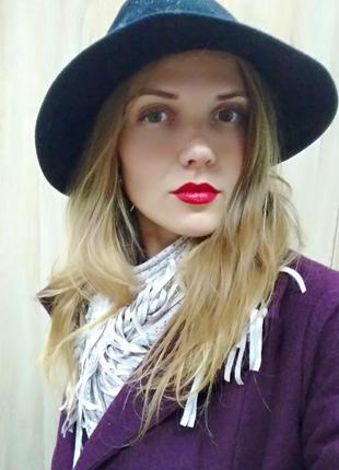 Фетровая шляпа шерсть стильная тренд