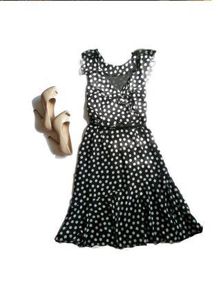 Элегантное шифоновое платье в горох