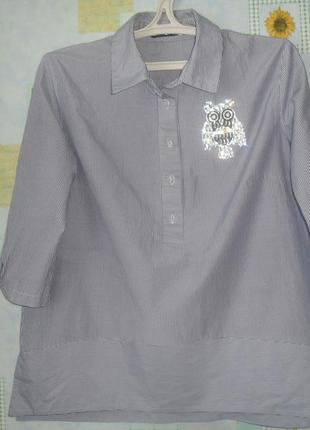 Стильная рубашка трапеция3 фото