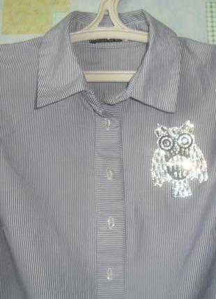 Стильная рубашка трапеция4 фото