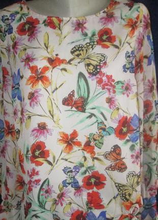 Блуза в бабочки. мега скидки в связи с переездом