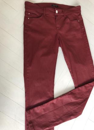 Брюки, джинсы / бордовые/ стрейчевые/ massimo dutti/ оригинал/ размер м