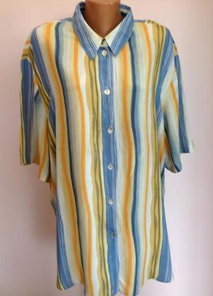 Большая вискозная блуза- рубашка. /52/brend samoon