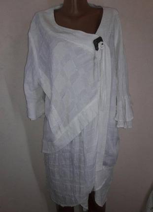 Оригинальное натуральное платье для пышных форм