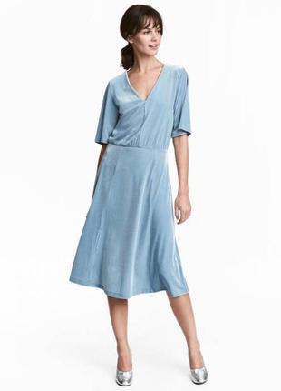 Коктельное платье небесно голубого цвета