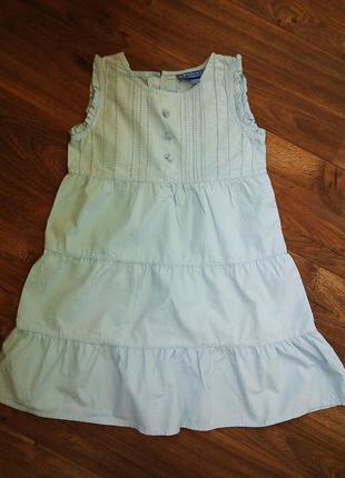 Очень красивое платье из хлопка на дев.4-6лет