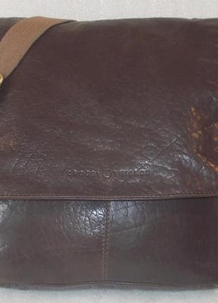 Большая мужская сумка *crosby & friends* натуральная кожа