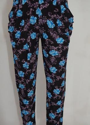 Яркие женские летние штаны галифе с карманами размер /42/44/46//48 хорошее качество