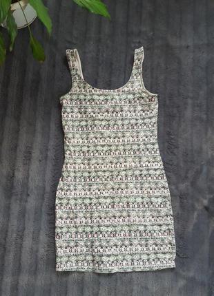 Короткое платье майка коротка сукня