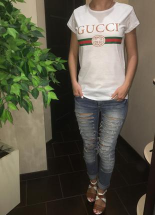 Женская футболка в стиле gucci размер s,m,l