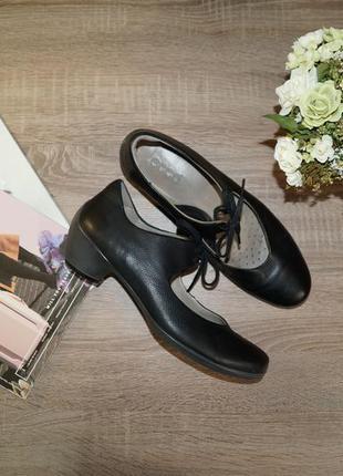 (41р./27,5см) ecco! кожа! оригинал! красивые ортопедические туфли в классическом стиле