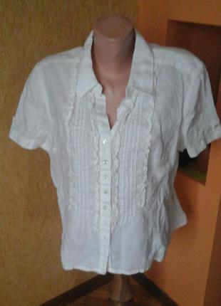 Белая льняная рубашка фирмы witteveen
