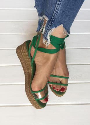 Распродажа!!! (40 р.  / 26 см) босоножки-еспадрильи бренда castanet. (на узкую ногу) № 555