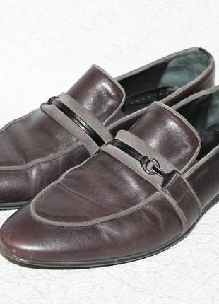 Кожаные туфли /лоферы baldinini 42 размер 27,5 см стелька