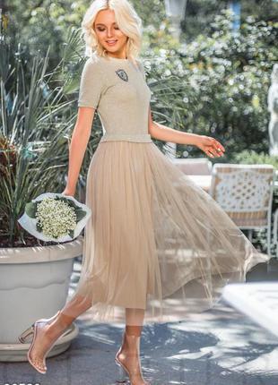 Шикарное летнее платье-пачка