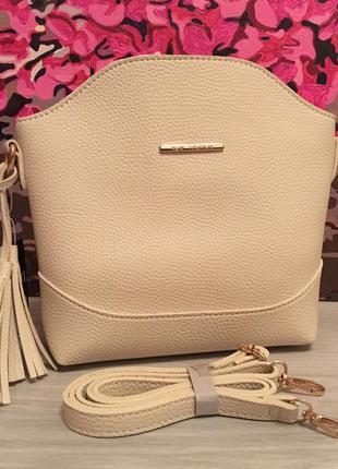 Клатч сумка екокожа екошкіра кожзам сумочка беж