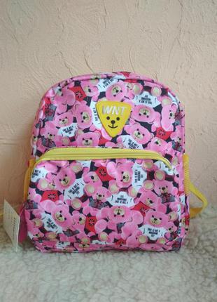 Детский розовый рюкзак