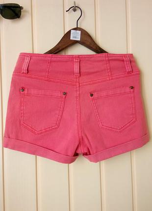 Xs/s идеальные плотные джинсовые шорты кораллового цвета