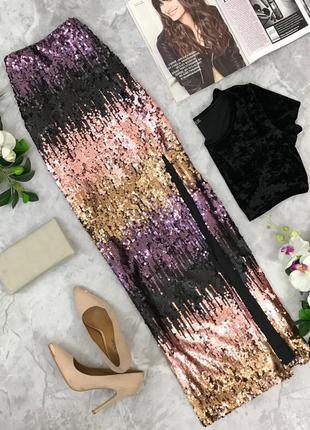 Шикарная юбка расшитая паетками  ki1821058  boohoo