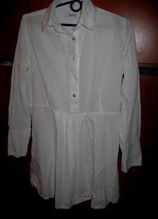 Рубашка-туника белая