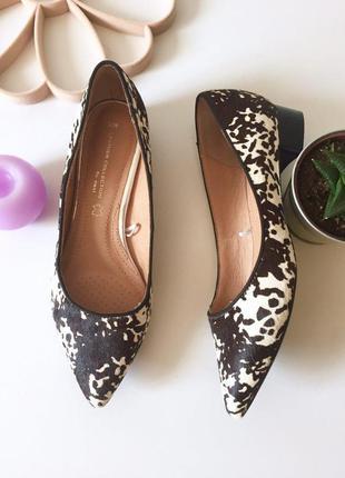 Стильные ворсистые туфли лодочки на низком каблуке от next