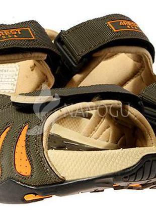 Сандалии женские спортивные с массажной стелькой хаки оранжевый usa