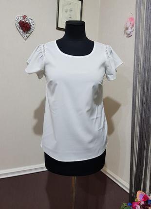 Белая блуза anna field