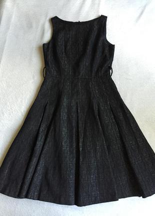 Платье сарафан миди из оригинальной ткани
