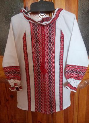 Рубашка вышиванка для девочки 5-6 лет