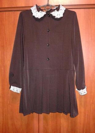 Школьная форма платье коричневое для девочки