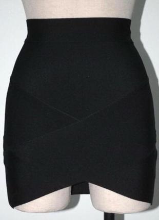 Бандажная юбка мини