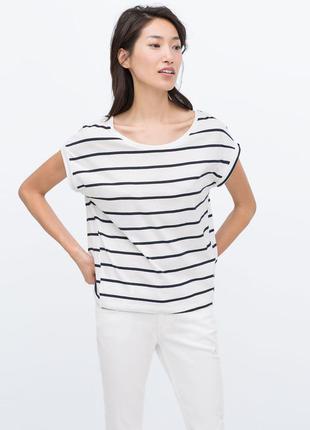 Zara футболка в полоску , s