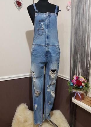 Стильный джинсовый комбинезон джинсы tally weijl