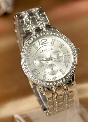Женские наручные часы geneva серебро